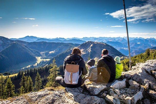 Panorama Alpine Good View Firs Mountains Calm Mindfulness