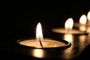 Candle Candlelight Celebration Close-Up Dark Flame