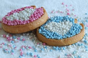 Geboorteaankondiging Biscuit With Mice Sprinkles