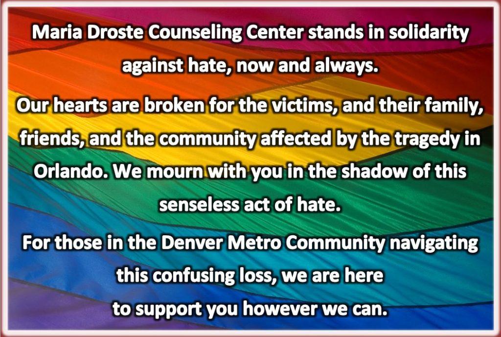 Orlando Pulse Nightclub Solidarity Maria Droste